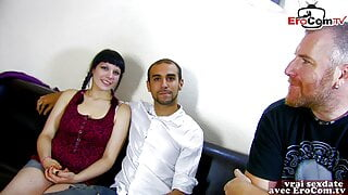 French girl next door tries amateur casting