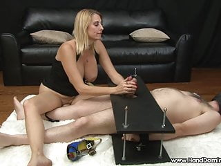 Mean femdom movies Mean dominant milf uses helpless slave during handjob