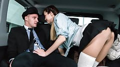 Czech School Girl gets fucked by Uber Driver