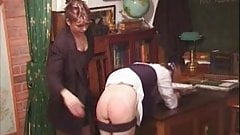 Light spanking in school.