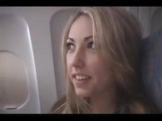 Airplan sex - Amateur airplane blowjob