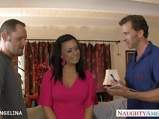 Eva angelina big wet asses Horny eva angelina taking two big dicks