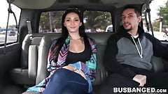 Horny Crystal Rae has amateur sex in car with stranger