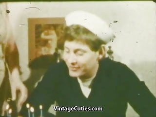 Vintage sailor dresses Sailors girlfriend deepthroat mouth cumshot 1960s vintage