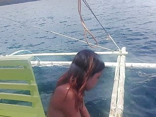 Nudist family vacation trip pics Filipino nudist couple .. nude boat trip