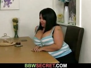 Fattie big cock Horny fattie rides his cock and wife comes in