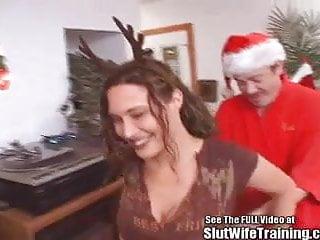 Santa fucks 3 blonde girls - Dirty santa fucks his reindeer girl