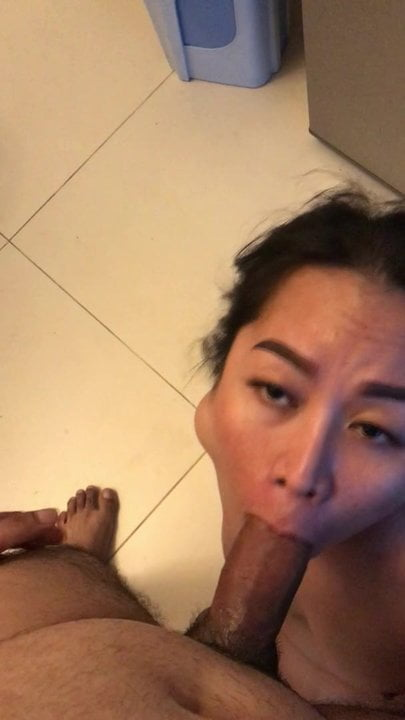 Little Vietnamese mouth stretched and tamed with hard cock
