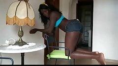 Nice Ebony Ass Creampie