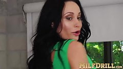 Clit playing action with busty MILF Crystal Rush