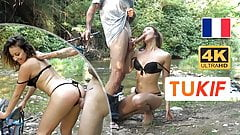 Outdoor doggystyle fuck for a sexy French girl