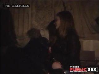Lesbian public spanking - Voyeur lesbian public 6