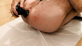 close-up anal dildo fuck