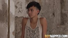 Submissive twink Maxxie Rivers takes ass spanking from dom