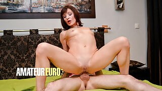 AMATEUR EURO - French Cougar Eloise Rides Her BF Tony Anally