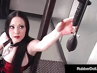 Girls abusing cocks Latex lesbian rubberdoll abuses her slave girl diabolica