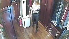 Hidden cameras.Super mom locker room