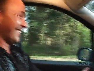 Woman gete gangbang by car Big german woman enjoys getting plugged in car