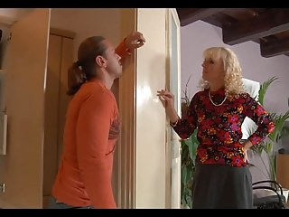 Nanny spank Blonde horny nanny