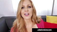 Dick Starved Milf Julia Ann Mouth Fucks A Lucky Cock!