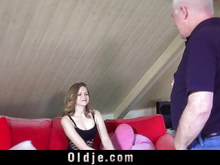 Give cunnilingus Deluxe girl slut is giving oldman rimming and pro blowjob