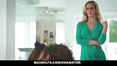 Badmilfs - подборка горячих милф, обучающих молодых тинков