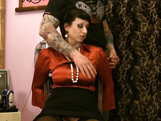 Sworn virgin clothing - Busty satin milf in distress ripped clothes pussy toyed