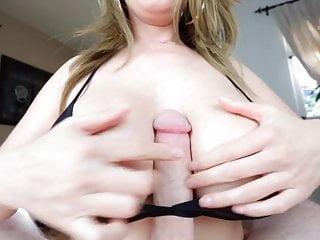 Big tittie girl bra filled cum Tittyfuck under bra massive tits cumshot between tits