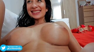 Italian brunette with long legs and fake big tits Alice
