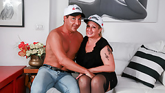 LETSDOEIT - Italian BBW Mature Gets Her Juicy Pussy Drilled