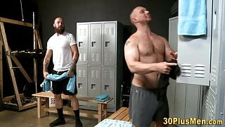 Horny dude deepthroating and riding