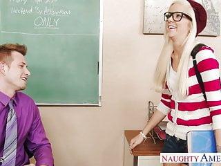 Is kat von ds pussy tattooed Geeky schoolgirl halle von fuck in classroom