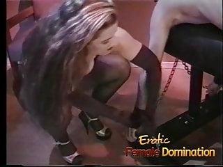 Male bondage dominatrix Policewoman and a dominatrix team up to interrogate