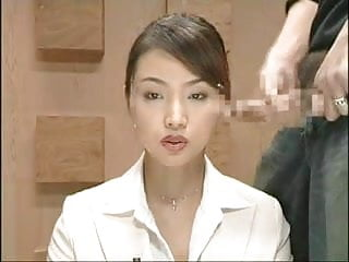 Newscaster nude - Beautiful japanese newscaster gets several facisls