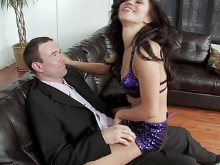 Fuck handsome Slim brunette babe gets fuck with handsome man