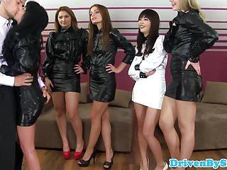 Reverse gangbang porn Asian babe analized during reverse gangbang
