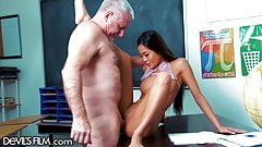 Vina Sky Fucks Her Teacher's Huge Cock For Better Grades