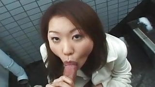 Suave Japanese gal shagged outdoors