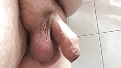 My uncut cock with cumshot 01.07.2017