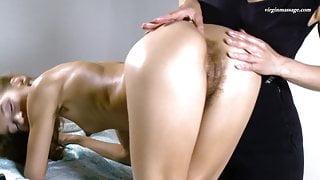 Volosatik being virgin pussy massaged