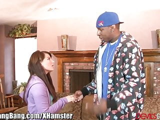 Sausage penetration Casey cumz gangbanged by 3 big black sausages