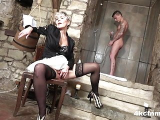 Dungeon master and bdsm Cfnm - granny the dungeon master
