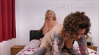 At Home with The Creampies and Inara on the bed Promo