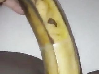 Fuck a banana Amateur friend fucking a banana and squirt