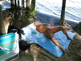 Masturbating nude beach Nude beach - mature blond mastubation