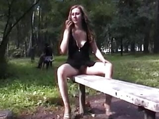 Sexy spanish girl vids - Sexy flashing girl public park vid 1
