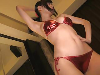 Non nude lotita videos Fire - shiny red bikini dancing non-nude