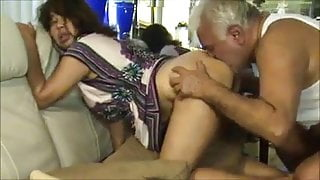 Dirty Older Uncle Fucks & Licks Hairy Indian Lady's Ass
