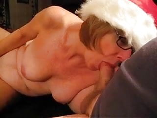 Christmas latex women mrs claus free Granny head 30 down mrs. claus throat