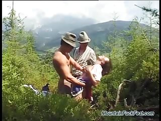 Extreme deep penetrations Extreme mountain dp with german teen
